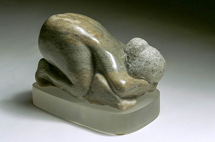 Woman Kneeling Abstract Sculpture