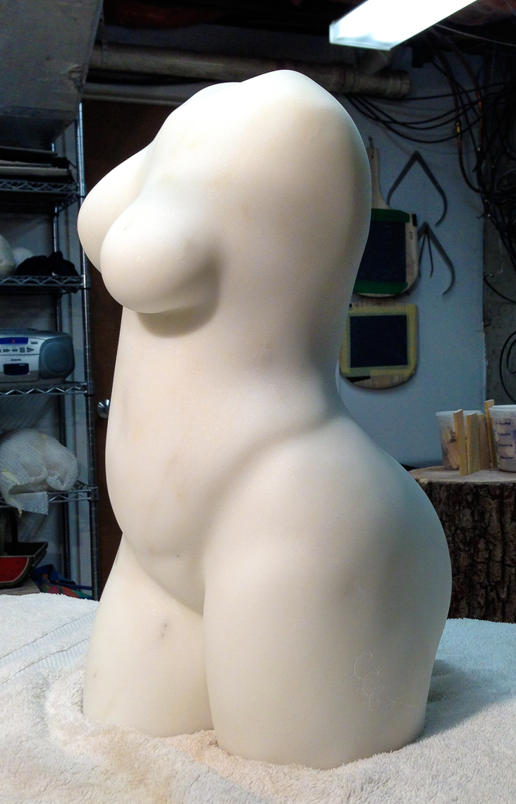 "Left profile of ""Oriata"" torso"