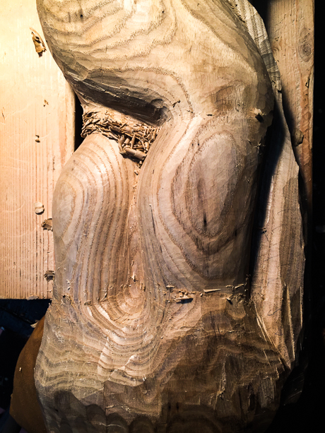 """Kaia"" legs during carving"