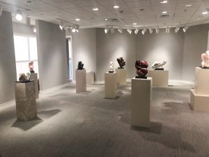 Lorrie Goulet's sculptures at Harmon-Meek Gallery