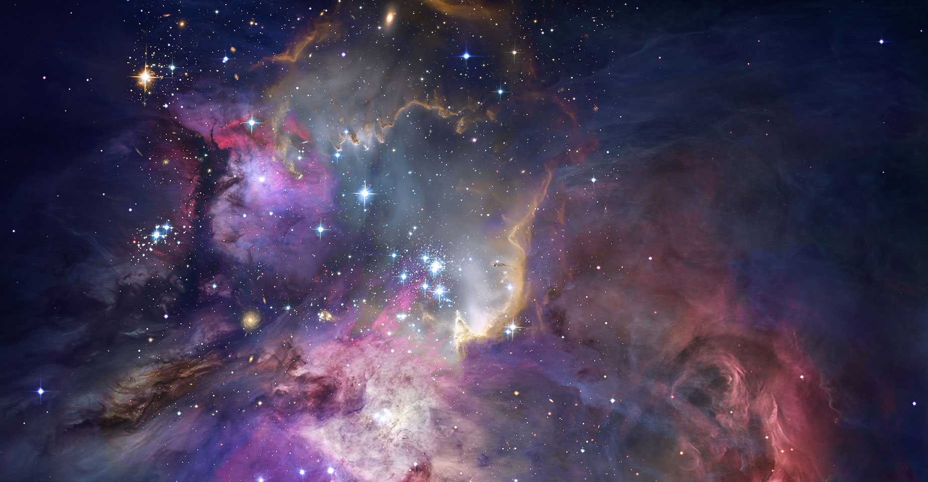 Stars and galaxies in outer space