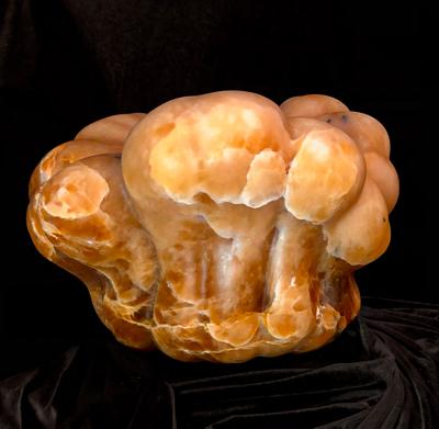 Alabaster carving of hubbard squash